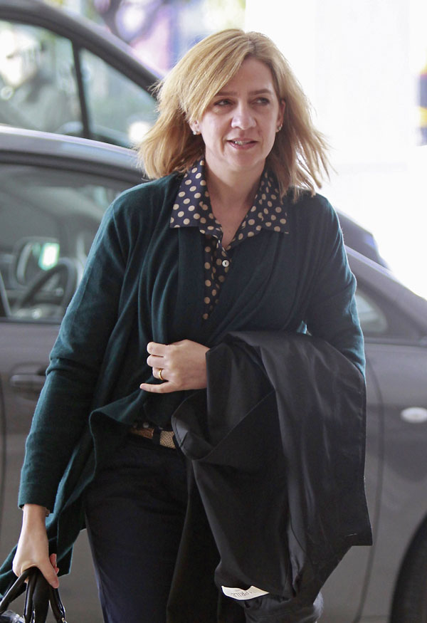 Princess Cristina of Spain arrives at Athens airport, Greece, on March 5th, 2014