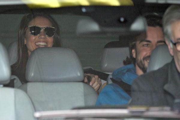 Lara Álvarez y Fernando Alonso