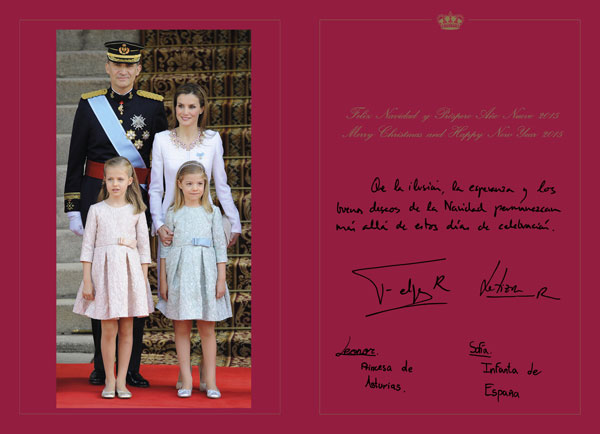 18/12/2014 Titular: FELICITACION NAVIDAD 2014 / 2015 FAMILIA REAL ESPAÑOLA