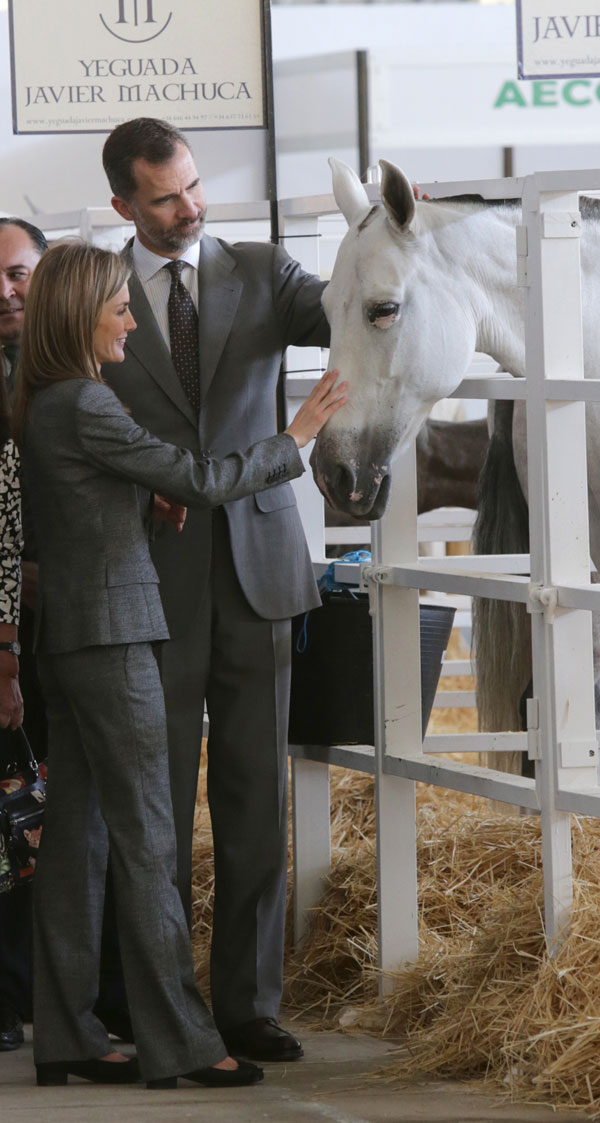 Spain¿s King Felipe VI and Queen Letizia during the opening of the International Livestock Fair in Zafra, Spain, on October 2nd, 2014