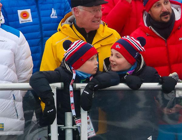 Ingrid Alexandra y Sverre Magnus de Noruega