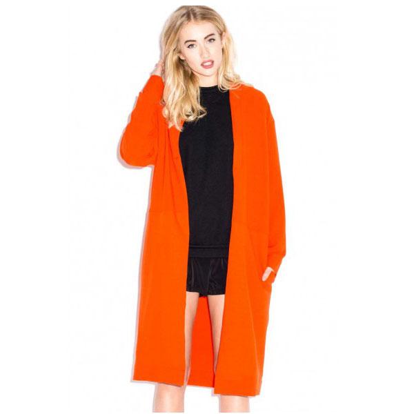 Maxi chaqueta naranja