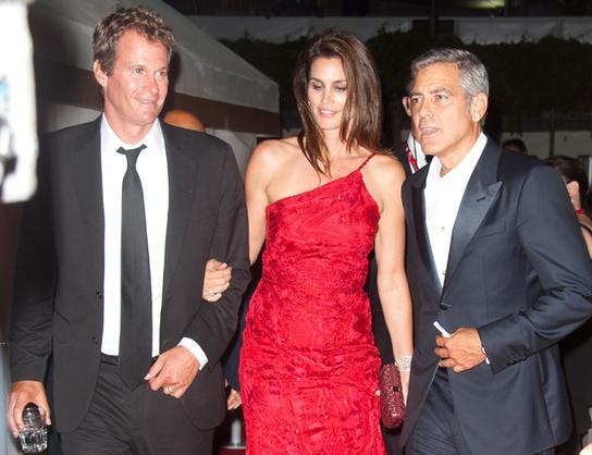 Cindy Crawford y George Clooney