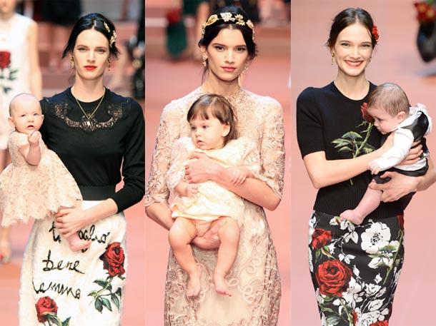 desfile maternidad dolce&gabbana