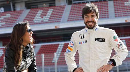 Lara Alvarez y Fernando Alonso
