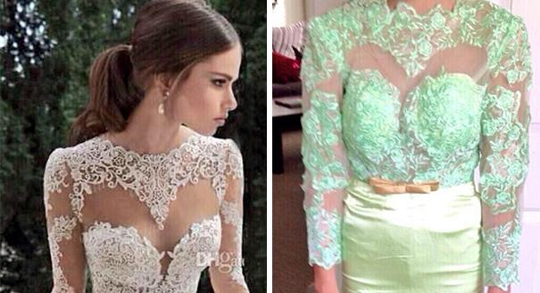 vestidos de boda que no eran como en la foto