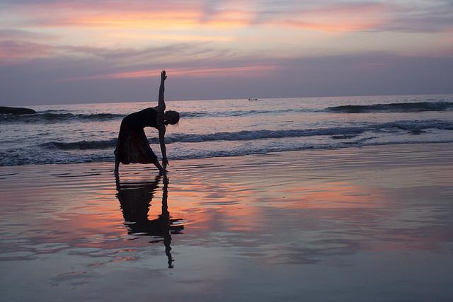 Yoga-sunset