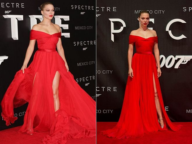 Léa Seydoux vestido rojo