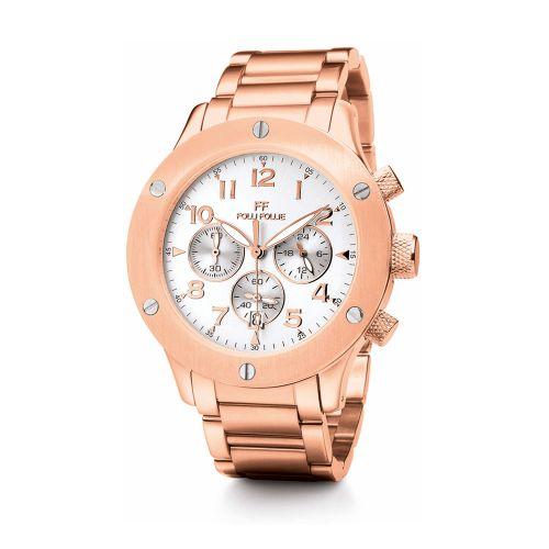 Relojes de acero en oro rosa