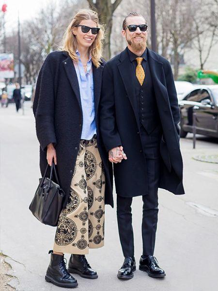 Veroniña Heilbrunner con su pareja.