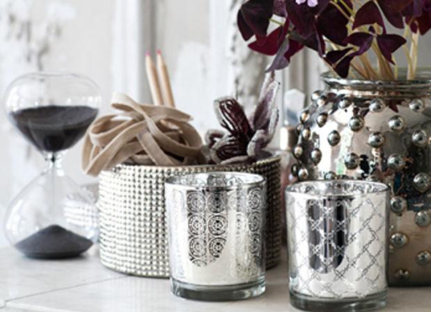 accesorios de decoración plata