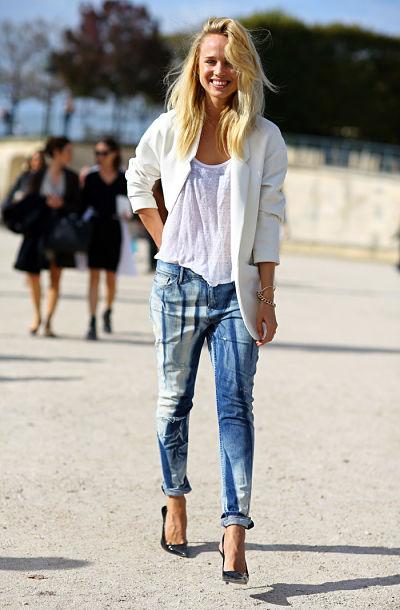 Elie Kling con jeans.