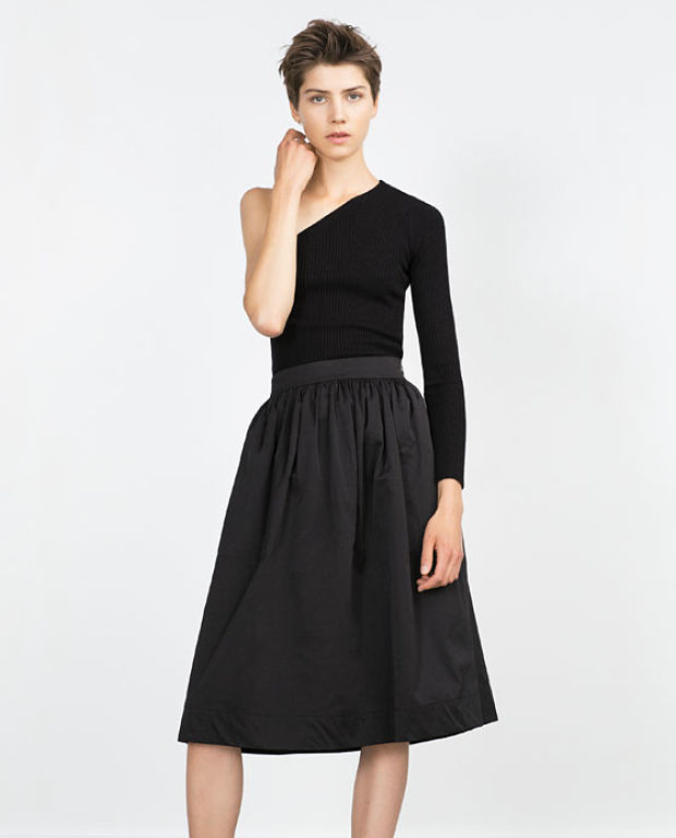 falda midi zara Adriana Abenia