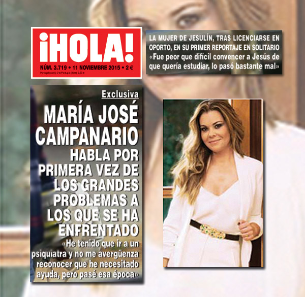 En ¡HOLA!: La entrevista más esperada de María José Campanario