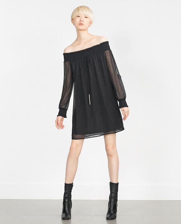 vestido negro plumeti