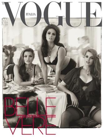 Portada de Vogue Italia de modelos curvy.