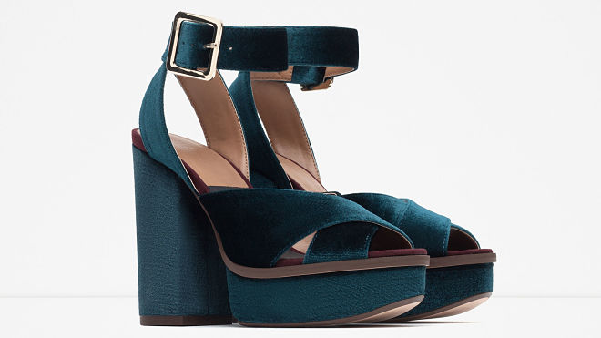 zapatos terciopelo azul