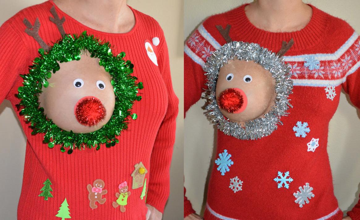 jerseys navideños teta fuera