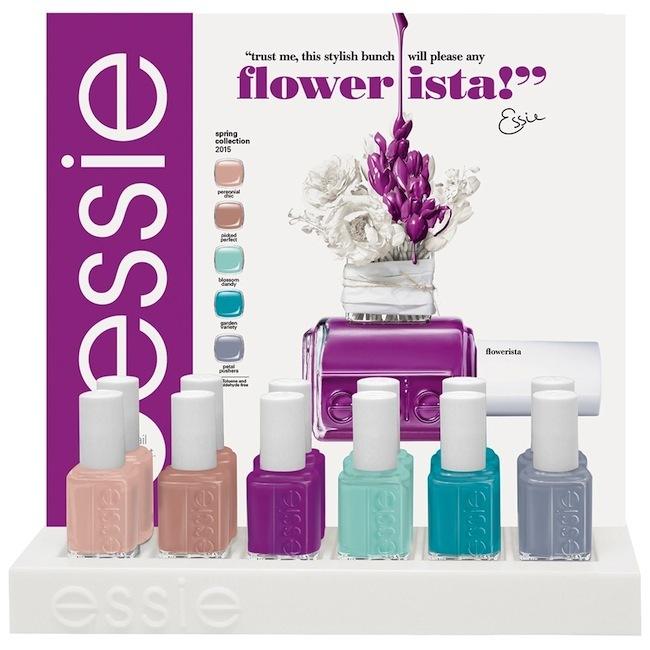 Essie Flowerista Spring Collection 2015 Display 1000x1000