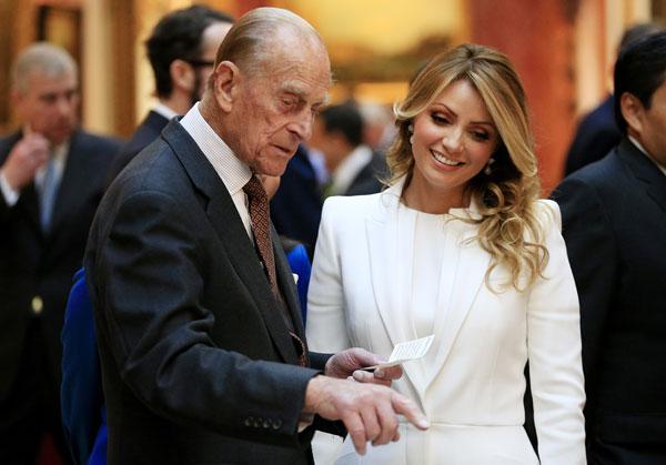 Angelica-Rivera y duque de edimburgo