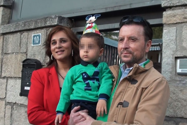 EL TORERO JOSE ORTEGA CANO Y ANA MARIA ALDON CON SU HIJO JOSE MARIA EN MADRID 25/02/2015