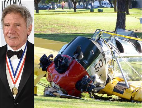 Asi quedo la avioneta en la que sufria el accidente el actor Harrison Ford