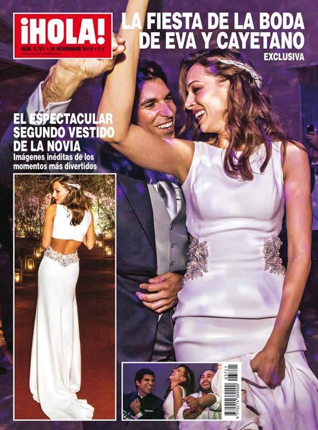 El segundo vestido de novia de Eva González